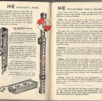 Image of pp [4-5] Ads for Leveling Rods; Engineers' Field Books