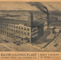 Image of inside front cover: Davis' Acid Phospate & Baking Powder Plant [Hoboken]