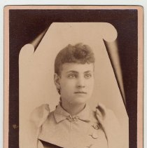 Image of Cabinet photo of young woman taken by [Christian] Durstewitz, 192 Washington St. (old number), Hoboken, n.d., ca. 1880s-1891. - Photograph, Cabinet