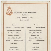 Image of Menu 2: Lunch, Sept. 6, 1908