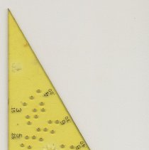Image of Drawing template: Xylonite Lettering Triangle No. 1859 B-5 made by Keuffel & Esser Co., N.Y. & Hoboken, n.d., ca. 1939-1944. - Template, Drafting