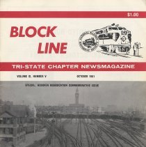 Image of Block Line. Tri-state Chapter [NRHS] Newsmagazine. Vol. IX, No. V, Oct. 1981. Hoboken [Terminal] Rededication Commemorative Issue. - Magazine