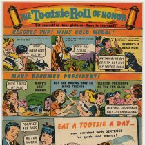 Image of Ad, Tootsie Roll: The Tootsie Roll of Honor. As published in True Comics, No. 12, May 1942. - Ad, Magazine
