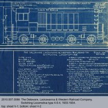 Image of Diagrams: D.L. & W. Railroad, Switching Locomotive type 4-0-4, 1933-1934. - Drawing, Technical