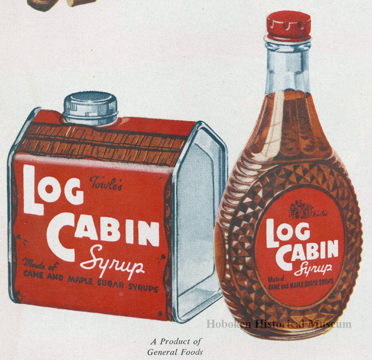 Ad log cabin syrup magazine ads by