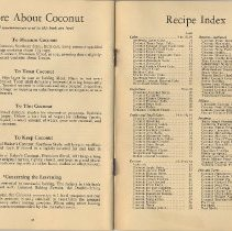 Image of pp 38-[39]: More About Coconut; Recipe Index