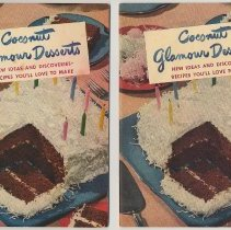 Image of [Baker's Coconut recipes] Coconut Glamour Desserts. Issued by Franklin Baker Div., General Foods, Hoboken, copyright 1949. - Booklet