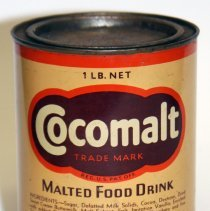 Image of Can: Cocomalt. Malted Food Drink. 1 Lb. Made by R.B. Davis Co., Hoboken. N.d., ca. 1930-1940. - Can