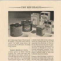 Image of pg 10: Beverages; Baker's Breakfast Cocoa; Postum; Instant Postum