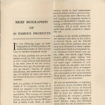 Image of pg 3: Brief Biographies of 29 Famous Products