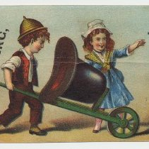 Image of Trade card: Hirschberg, The Hatter. 158 Washington St., Hoboken. N.d., ca. 1876-1890. - Card, Trade