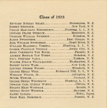 Image of leaf 8: Class of 1926 [continued - end]