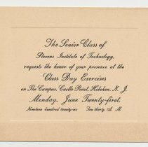 Image of enclosure 1: Class Day invitation card