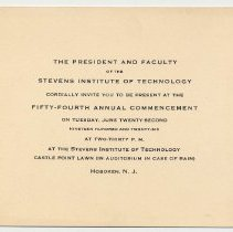 Image of Enclosure 2: invitation to 54th annual commencement