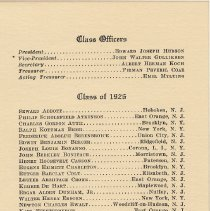 Image of leaf 6: Class Officers; Class of 1926