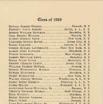 Image of leaf 7: Class of 1926 [continued]