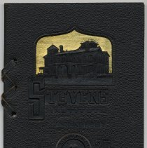 Image of front cover: blind embossed leather with gilt detail