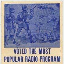 "Image of Handbill: Cocomalt sponsorship of ""Buck Rogers in the 25th Century"" radio program, R.B. Davis, Hoboken, n.d., ca. 1933 or 1934. - Brochure"