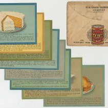 Image of Recipe cards, 8, promoting Davis Baking Powder; issued by R.B. Davis Co. Hoboken, n.d. (issued ca. 1920-1922). - Recipe