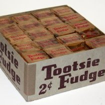 Image of bottom box with wrapped fudge contents