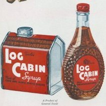 Image of Ad 6: detail of syrup can and glass bottle