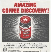 Image of Ad 4: Saturday Evening Post, 1952; Instant Maxwell House Coffee