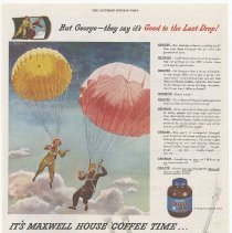 Image of Ad 1: Saturday Evening Post, Sept. 22, 1945, Maxwell House Coffee Time