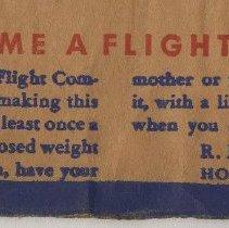 Image of detail envelope back, bottom: Flight Commander; Davis name & address