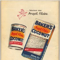 Image of pg [32] back cover; can & box Baker's Angel Flake Coconut; Hoboken address