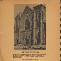 Image of pg [ii]: photo of First Methodist Church exterior; calendar of activities