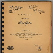 Image of Book of Favorite Recipes. Compiled by The Fellowship Circle, Women's Soc. of Christian Service, First Methodist Church, Hoboken, 1958. - Book