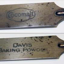 Image of details near ferrule - Cocomalt; Davis Baking Powder