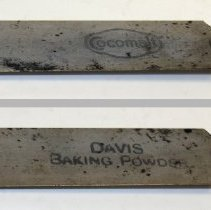 Image of front - Cocomalt; back - Davis Baking Powder