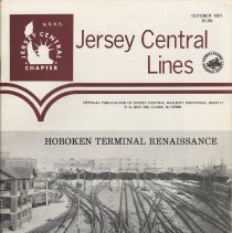 Image of Hoboken Terminal history in Jersey Central Lines. Volume 2, No. 10, October 1981. - Magazine