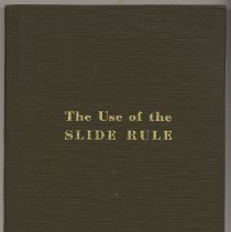 Image of Use of the Slide Rule, The. - Book