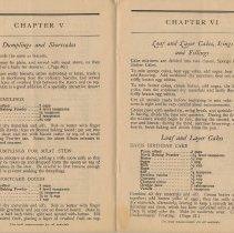 Image of pp [22-23]: Chapter V, Dumplings & Shortcakes; Chptr VI, Loaf & Layer Cakee
