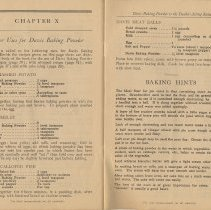 Image of pp [44]-45: Chapter X, Other Uses for Davis Baking Powder; Baking Hints