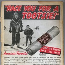 "Image of Ad: Tootsie Rolls on back cover of magazine ""The Shadow"", Vol. XXV, No. 4, Apr. 15, 1938. - Ad, Magazine"