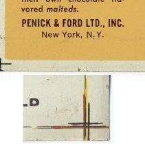 Image of detail color registration marks & company name