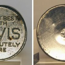 Image of top of lid; bottom of can with star