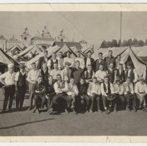Image of B+W photos, 2, at Balboa Park Naval Station, San Diego, CA, Dec. 15, 1917. - Print, Photographic