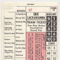Image of side 1: passenger train ticket / receipt
