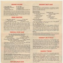 Image of side 2 inverted: recipes; copyright date 1948 at bottom