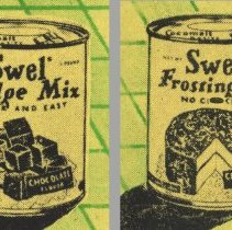 Image of detail cover can images; note top imprinting Cocomalt; Baking Powder cans