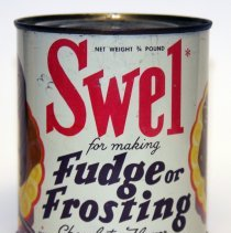 Image of Can: Swel for making Fudge or Frosting. Chocolate Flavor. 3/4 lb. Made by R.B. Davis Co., Hoboken. N.d., ca. 1950-1955. - Can