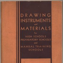 Image of Catalog: Drawing Instruments & Materials for High...Preparatory... & Manual Training Schools. K&E, N.Y. & Hoboken, 1936. - Catalog