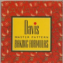 Image of Davis Master Pattern Baking Formulas. Published by R. B. Davis Co., Hoboken, N.J. 2nd edition, 1940. - Cookbook