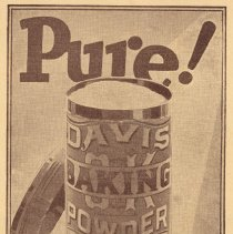 Image of enlarged view of Davis Baking Powder can on back cover