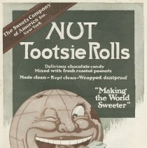 Image of Ad, Tootsie Rolls: Nut Tootsie Rolls. The Sweets Company of America Inc, New York, 1919. - Ad, Magazine