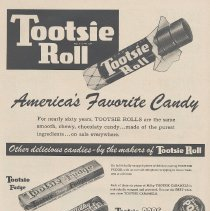 Image of Ad, Tootsie Rolls: America's Favorite Candy. The Sweets Company of America, Hoboken; in Life, Dec. 28, 1953. - Ad, Magazine